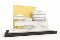 Guggenheim museum made by plastick bricks Royalty Free Stock Photo