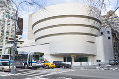 Guggenheim Museum of modern and contemporary art. NEW YORK - FEBRUARY 4: The Solomon R. Guggenheim Museum of modern and contemporary art. Designed by Frank Lloyd Stock Images