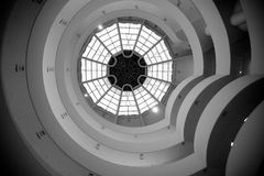 Guggenheim museum, New York. Indoor atrium of the Guggenheim museum in New York. Famous modernist masterpiece of Frank Lloyd Wright, one of the most impressive Royalty Free Stock Photos