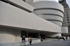 Guggenheim museum, New York. The entrance to the Guggenheim museum in New York Stock Images