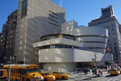 Guggenheim-Museum New York City Manhattan USA stockbilder