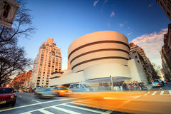 Guggenheim Museum. NEW YORK - FEBRUARY 4: The Solomon R. Guggenheim Museum of modern and contemporary art. Designed by Frank Lloyd Wright museum opened on Stock Image