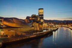 Guggenheim museum på Bilbao Arkivbilder
