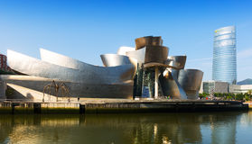 Guggenheim Museum and Torre Iberdrola. Bilbao Stock Photos