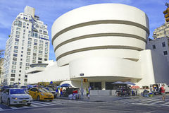 The Guggenheim Museum in the Upper East Side of Manhattan. NEW YORK - CIRCA SEPTEMBER 2015. The Guggenheim Museum in the Upper East Side of Manhattan is a Royalty Free Stock Photography