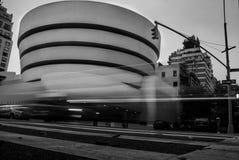 Guggenheim nel nyc New York in bianco e nero Immagini Stock Libere da Diritti