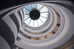 Guggenheim, New York. Indoor atrium of the Guggenheim museum in New York. Famous modernist masterpiece of Frank Lloyd Wright, one of the most impressive
