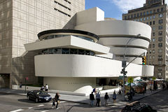 The Guggenheim, New York City. The Solomon R. Guggenheim Museum is located along Museum Mile on Fifth Avenue overlooking Central Park in New York City. A stock image
