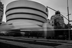 Guggenheim in nyc new york black and white Royalty Free Stock Images