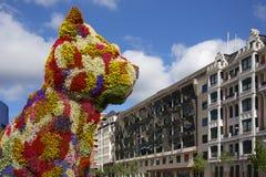 Guggenheim Puppy - Bilbao - Spain Stock Images