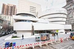 Guggenheimmuseum, de Stad van New York Stock Foto's