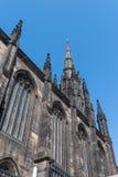 Guglia della chiesa, Città Vecchia, città di Edimburgo, Scozia Fotografia Stock Libera da Diritti