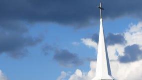 Guglia della chiesa, Nuova Inghilterra Fotografie Stock Libere da Diritti