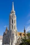 Guglie della cattedrale della st Matthias. Budapest. L'Ungheria. Immagini Stock