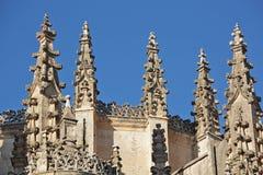 Guglie gotiche dalla cattedrale a Segovia Fotografia Stock