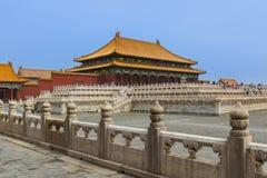 Gugong Forbidden City slott - Peking Kina arkivbild