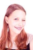 Guiño de la muchacha adolescente Fotos de archivo libres de regalías