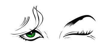 Guiño del ojo de la muchacha Imagenes de archivo