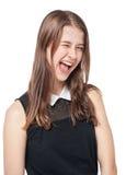 Guiño hermoso joven de la muchacha del adolescente aislado Foto de archivo