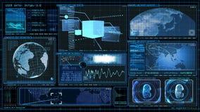 GUI экрана данным по компьютера интерфейса технологии иллюстрация вектора