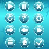 GUI Asset av nautiska knappar royaltyfri bild