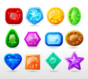 Gui Cartoon Buttons Set Images stock