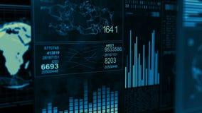 GUI d'écran de données d'ordinateur d'interface de technologie illustration libre de droits