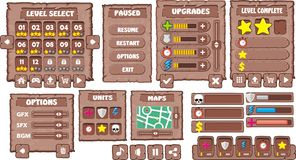 GUI 8 de jeu Images libres de droits