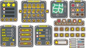 GUI 14 de jeu Photos libres de droits