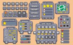 GUI 21 de jeu Photos stock