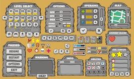 GUI 24 de jeu Images libres de droits