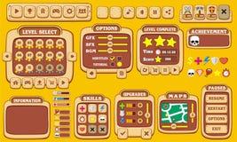 GUI 28 de jeu Photos stock