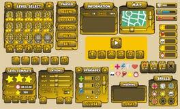 GUI 29 de jeu Photos stock