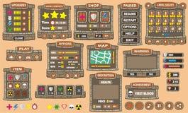 GUI 42 de jeu Photos stock
