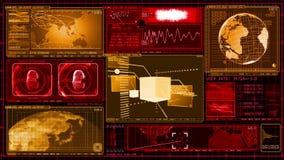 GUI de la pantalla de los datos del ordenador de interfaz de la tecnología ilustración del vector