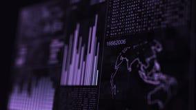 GUI de la pantalla de los datos del ordenador de interfaz de la tecnología almacen de metraje de vídeo