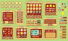 GUI 40 del gioco Immagine Stock