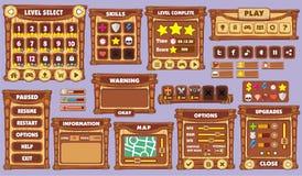 GUI 44 del gioco Immagini Stock