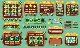 GUI 47 del gioco Immagini Stock