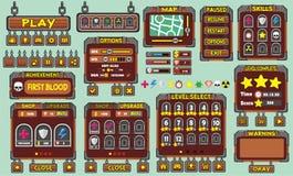 GUI 49 del gioco Immagine Stock