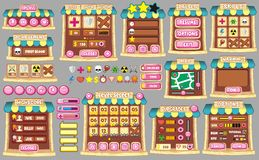 GUI 59 del gioco Fotografia Stock Libera da Diritti