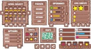GUI 8 del juego Imágenes de archivo libres de regalías