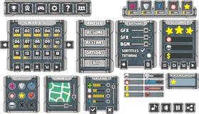 GUI 9 del juego Foto de archivo libre de regalías