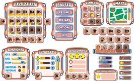 GUI 17 del juego Foto de archivo