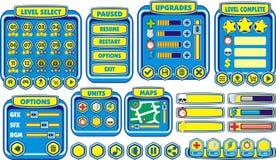 GUI 15 del juego Imagen de archivo libre de regalías
