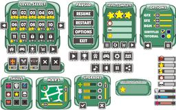 GUI 19 del juego Fotografía de archivo libre de regalías