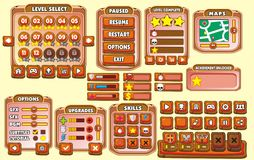 GUI 22 del juego Imagenes de archivo