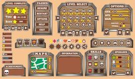 GUI 32 del juego Fotografía de archivo