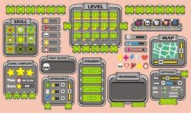 GUI 34 del juego Imágenes de archivo libres de regalías