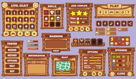 GUI 44 del juego Imagenes de archivo